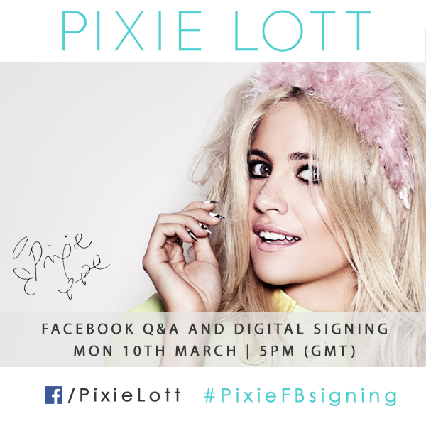 Pixie's first ever Facebook Q&A and Digital Signing!